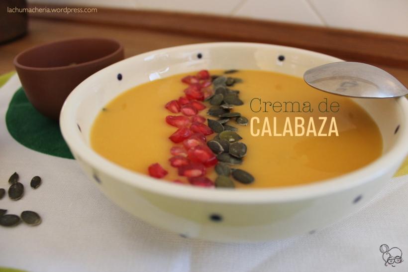 Prepara una rica crema de calabaza con topping de granada y pipas | lachumacheria.wordpress.com