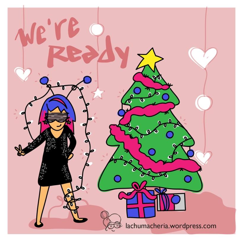 Estamos listas para las navidades   Felices Fiestas   lachumacheria.wordpress.com