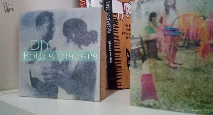 Regala un detalle hecho a mano fácil y rápido con un bloque de madera y una fotografía impresa en papel