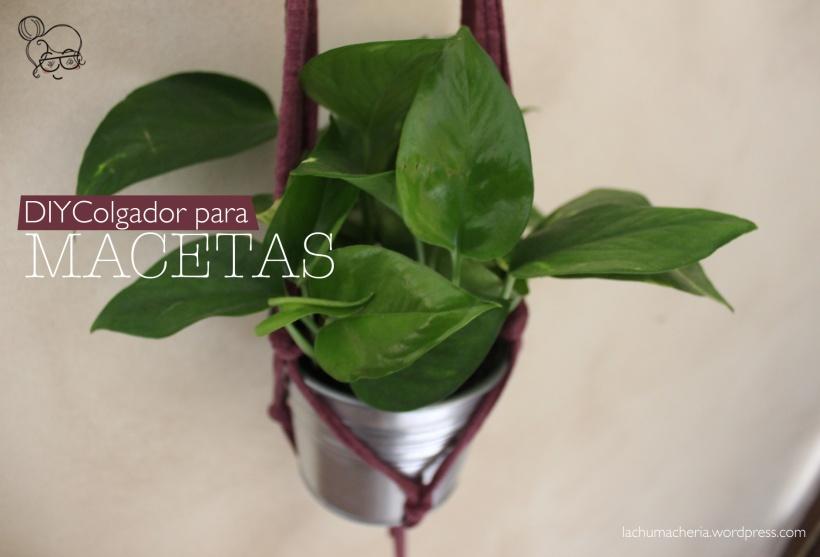 Prepara tu casa para la primavera con este sencillo colgador para macetas de macramé | lachumacheria.wordpress.com